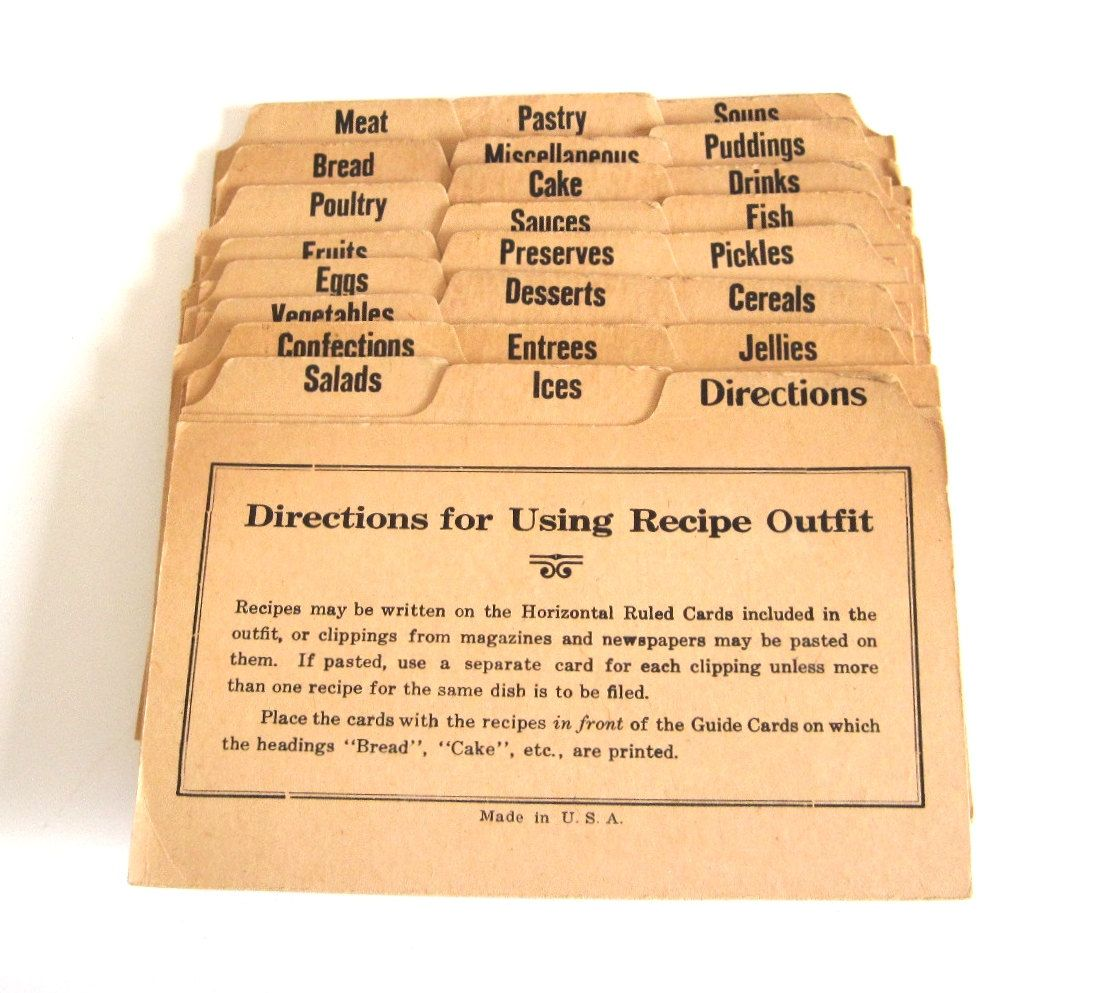 Handwritten Recipes Vintage Recipe Cards 3 X 5 Index Cards Handwritten Recipes Vintage Printed Recipe Cards Vintage Recipes