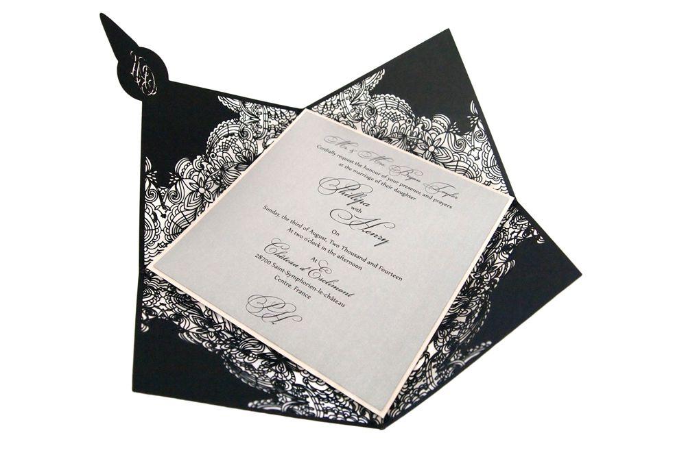 www.intricatecreations.co.uk Eternal - Laser-Cut Invitation - Most detailed laser-cut invitation in the world?