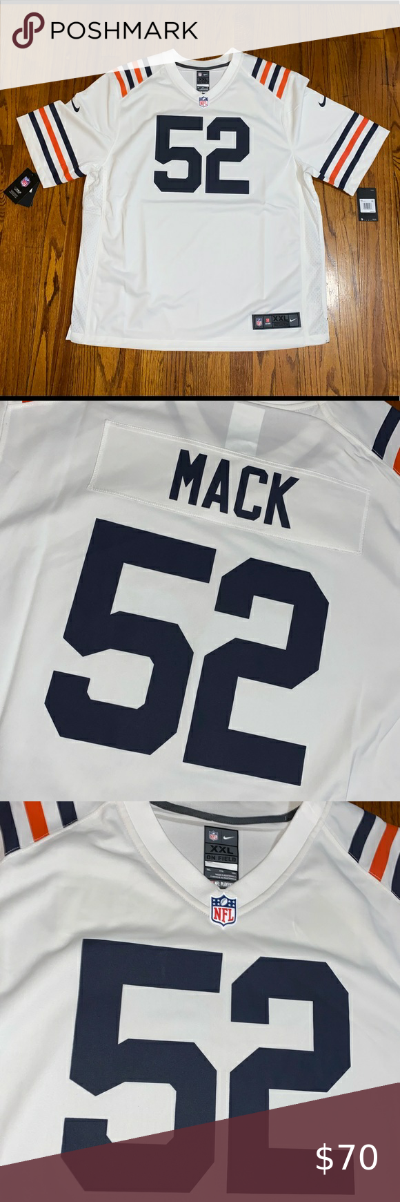 Chicago Bears Khalil Mack Jersey Chicago Bears Khalil Mack Nike Vapor Untouchable Limited Throwback Jersey Brand New With Tags Retai In 2020 Mack Jersey Nike Shirts