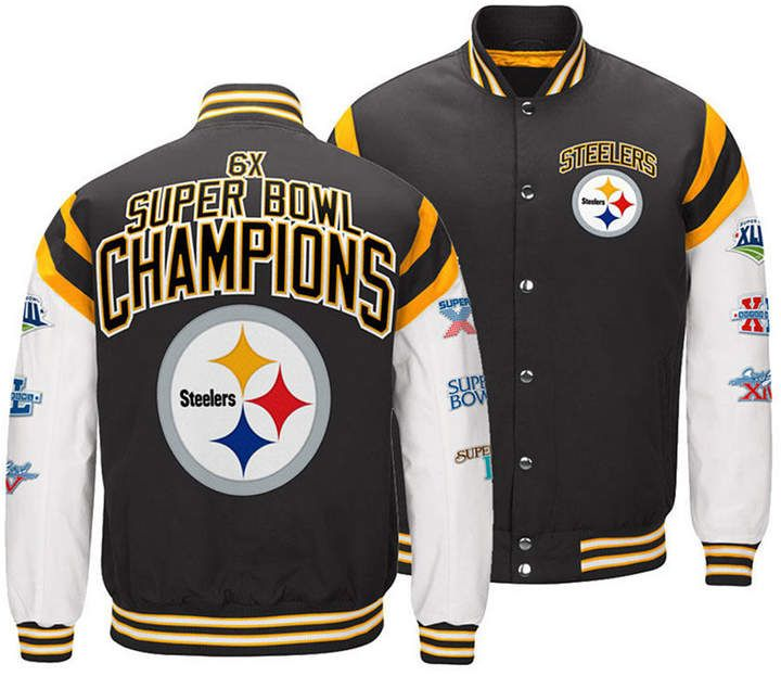 Men's Pittsburgh Steelers Home Team Varsity Jacket #varsityjacketoutfit