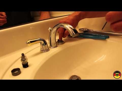how to fix delta faucet leaking from handle youtube bathroom rh pinterest com