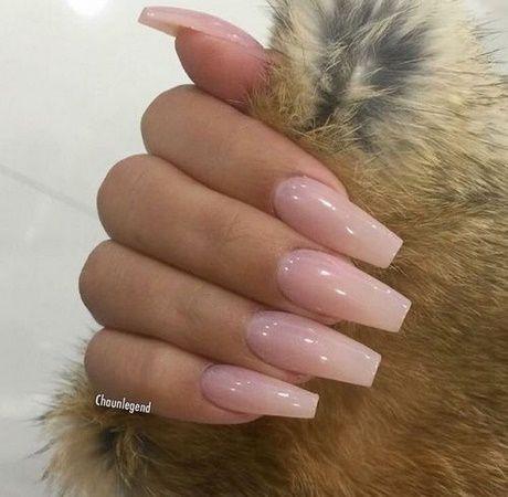 Clear Pink Acrylic Nails Pink Acrylic Nails Pink Nails Natural Coffin Nails