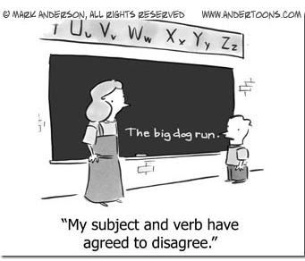 Funny English Teacher Cartoons Images Pictures Becuo Subject And Verb Subject Verb Agreement Teacher Humor