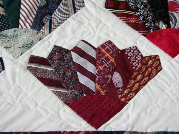 Tie quilt: pattern from Quick Quilts from the Heart (Fons & Porter ... : necktie quilt patterns - Adamdwight.com