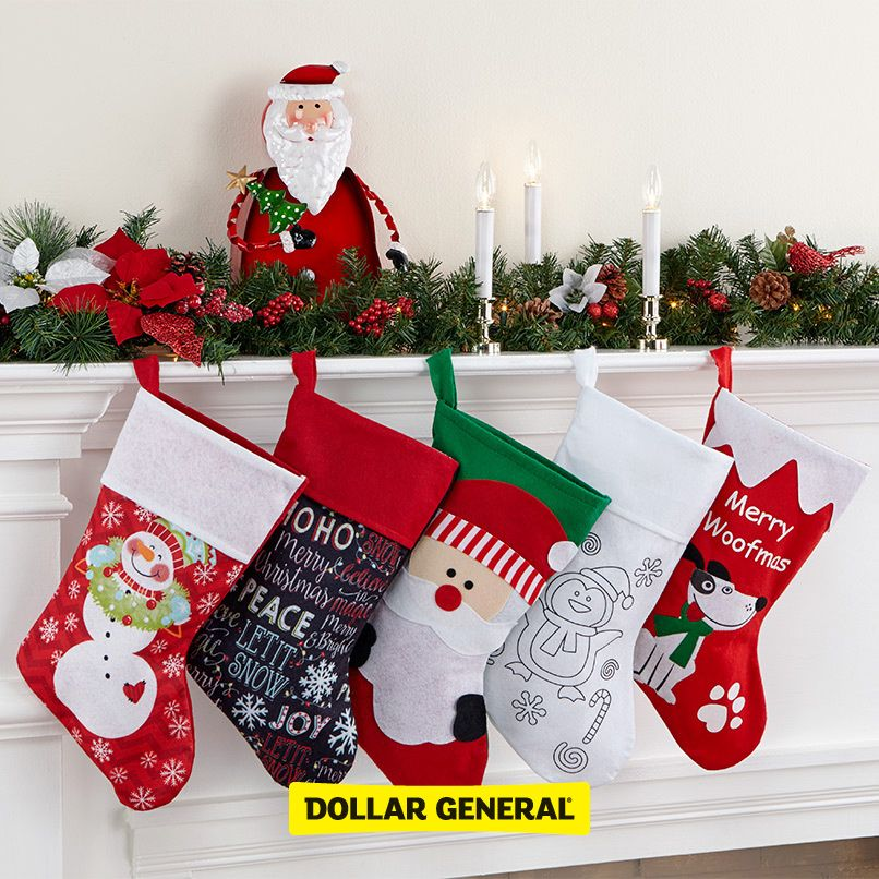 Find decorations for your mantle and stockings to hang at your local - dollar general christmas decorations
