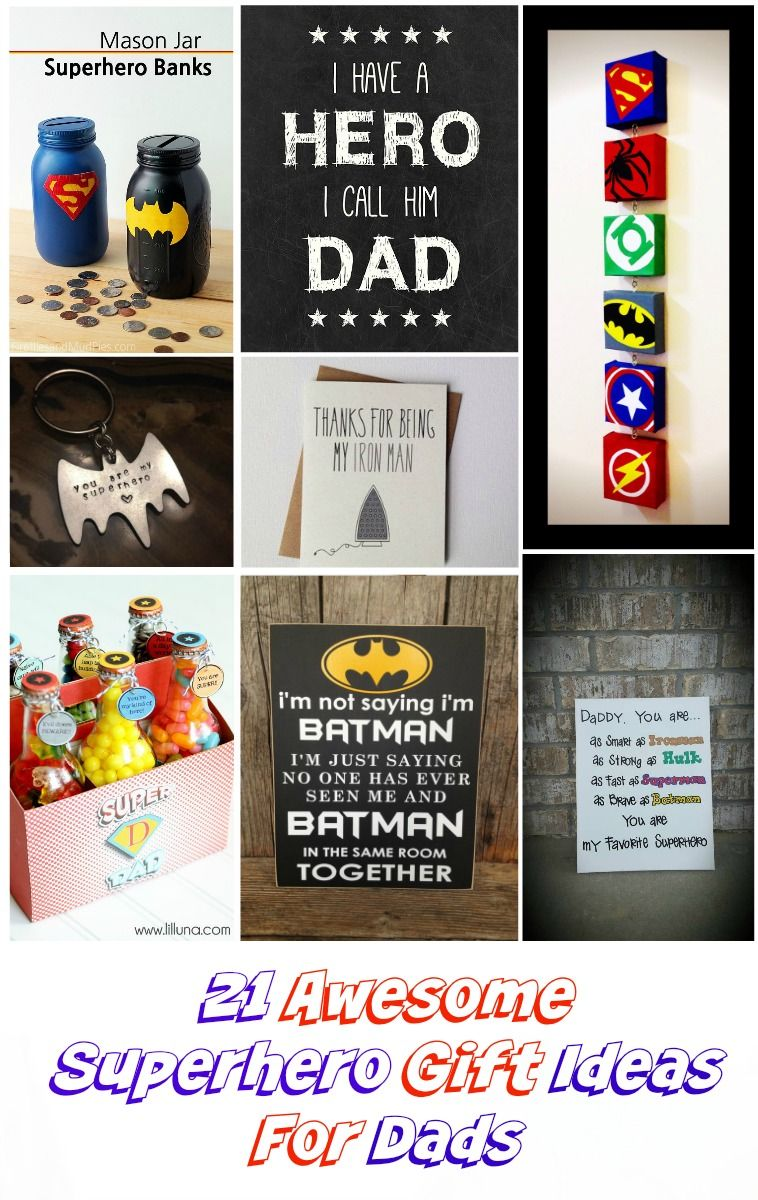 Everyone has a Superhero Dad. So, why not celebrate any special occasions or show them you care with these 21 totally awesome superhero gift ideas for dads.