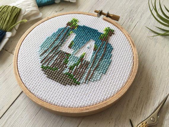 Los Angeles Cross Stitch LA Cross Stitch by houseofmiranda