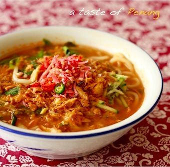 Penang Best Authentic Asam Laksa Recipe Torch Ginger Spice Easy Asian Recipes Recipes Laksa Recipe