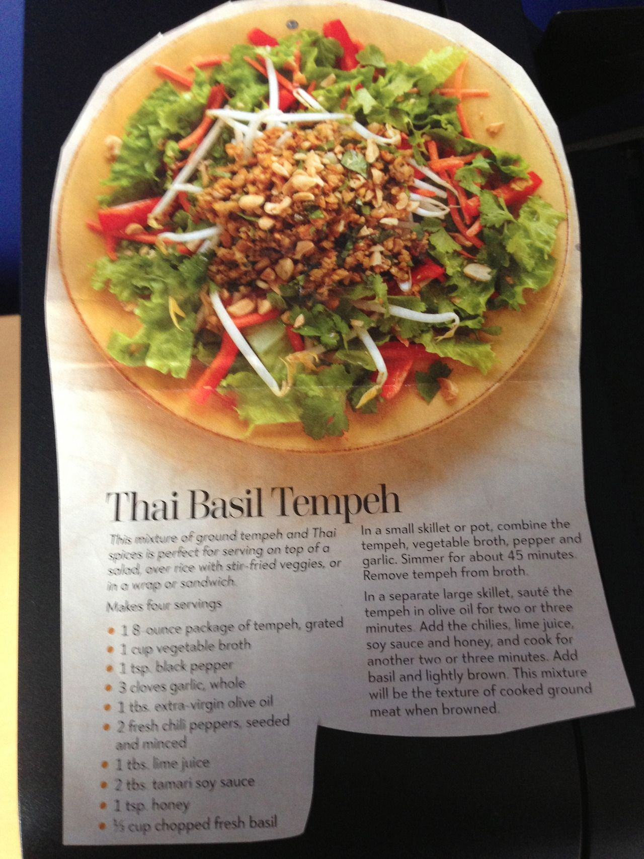 Thai Basil Tempeh Recipes Tempah Recipes Food Thai Dishes