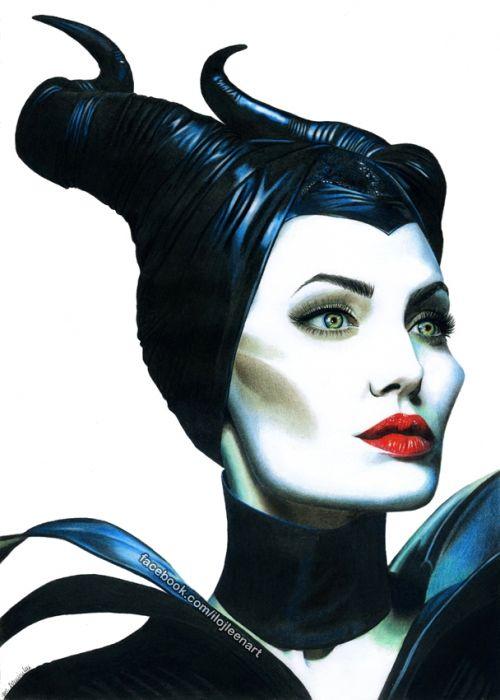 Angelina Jolie By Ilojleen Maleficent Maleficent