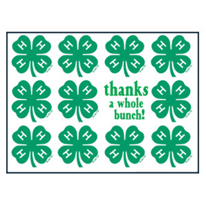 graphic regarding Printable 4 H Clover called Printable 4 H Brand Clover Brand Thank By yourself Playing cards/Box 8