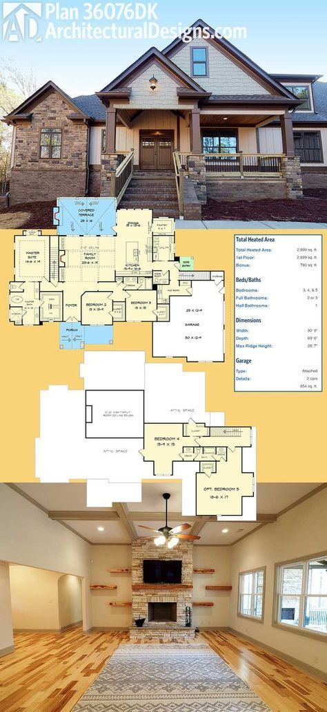 Introducing Architectural Designs House Plan 36076DK It