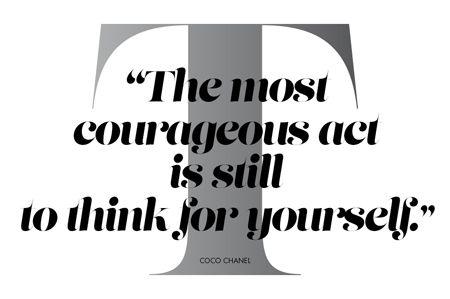 Nas Palavras de Coco Chanel - Elle Portugal