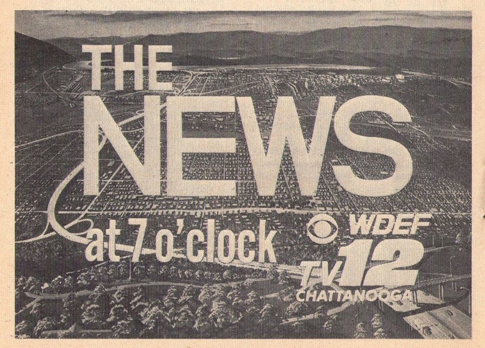 1967 Tv Ad~NEWS on WDEF TV in CHATTANOOGA,TENNESSEE~CHANNEL