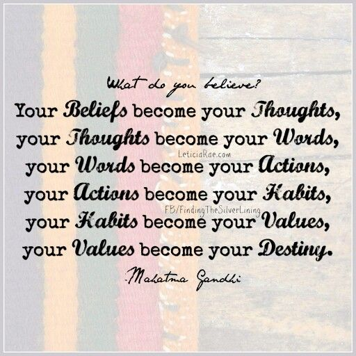 What do you believe? ♡