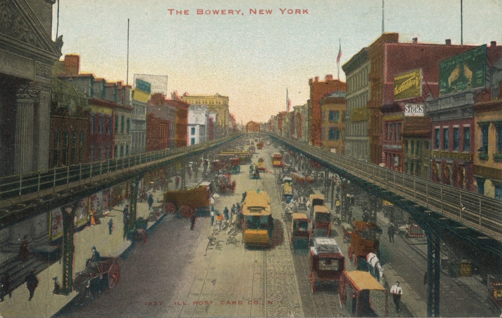 map of old 5 points bowery