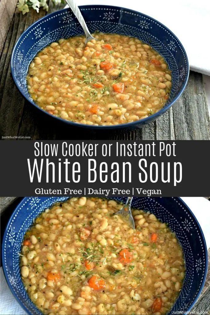 Photo of White Bean Soup – Gluten Free & Vegan – Just What We Eat