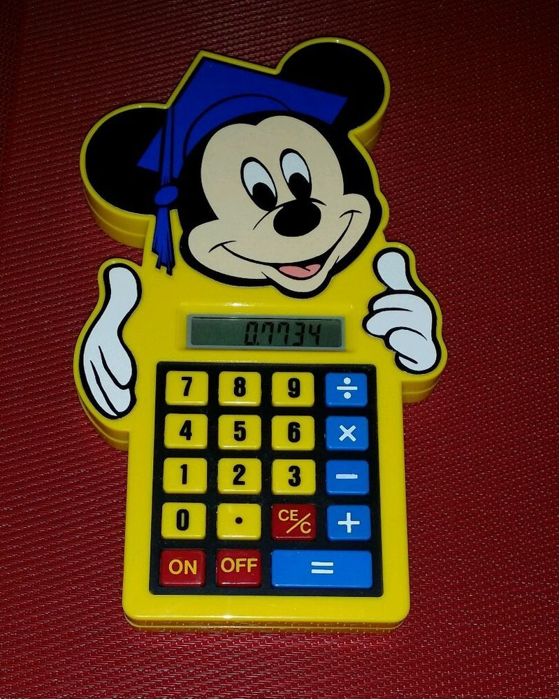 184648f3f67cd Vintage Mickey Mouse Calculator Concept 2000 Model WD-1011 DISNEY   Concept2000