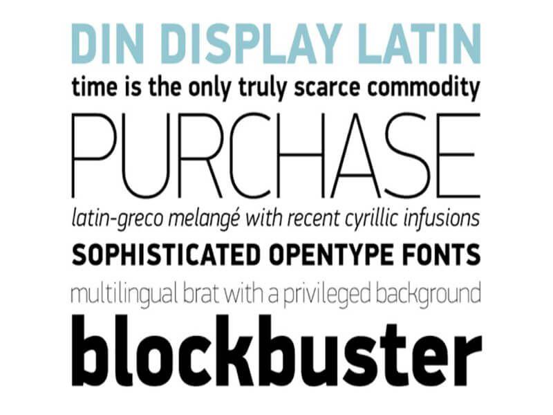 Din Pro Font Download | Din Pro Font Family Free Download