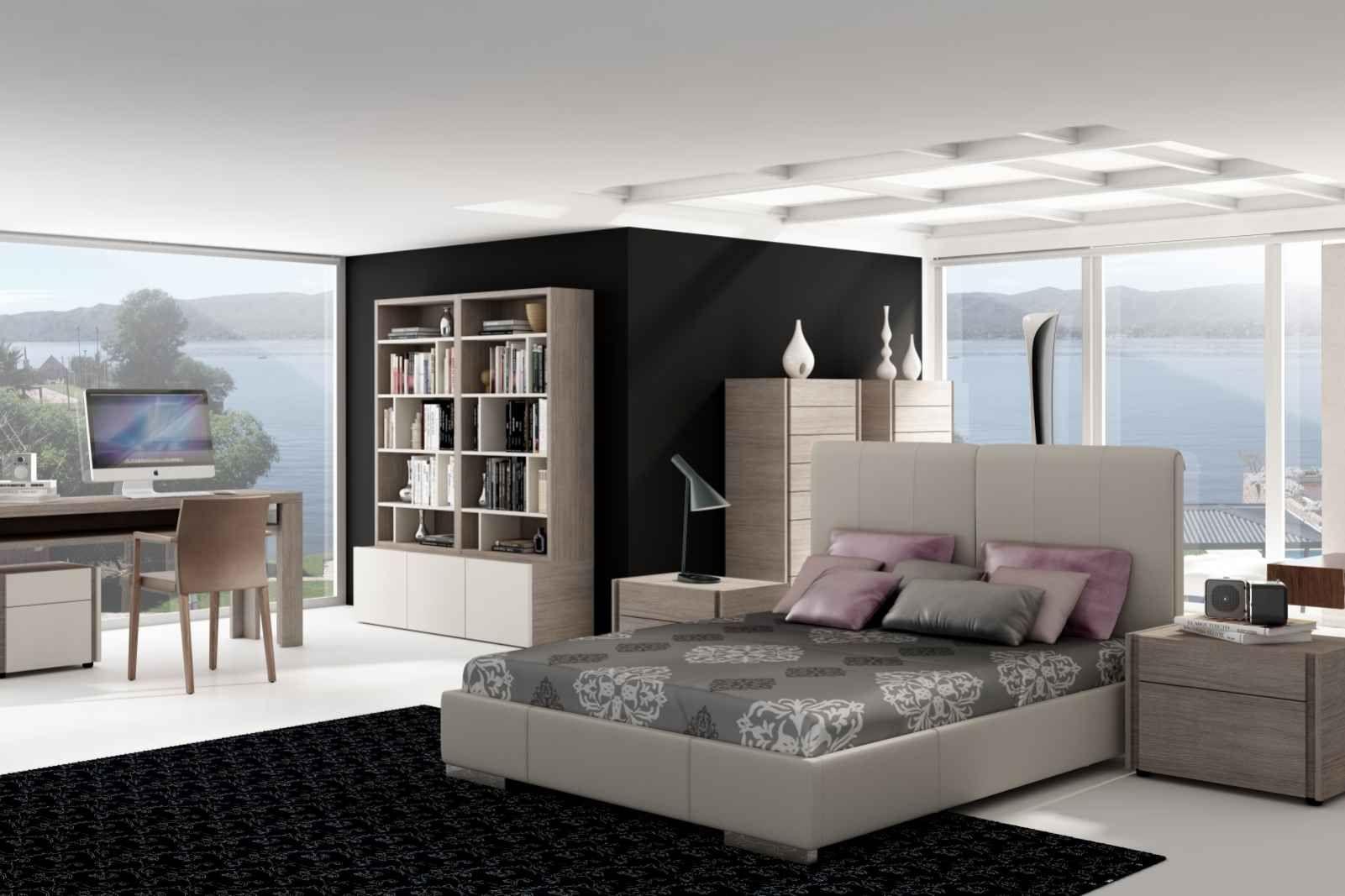 Schwarze Wand Als Kontrast Im Schlafzimmer Mit Enzo Bett Von Gamamobel
