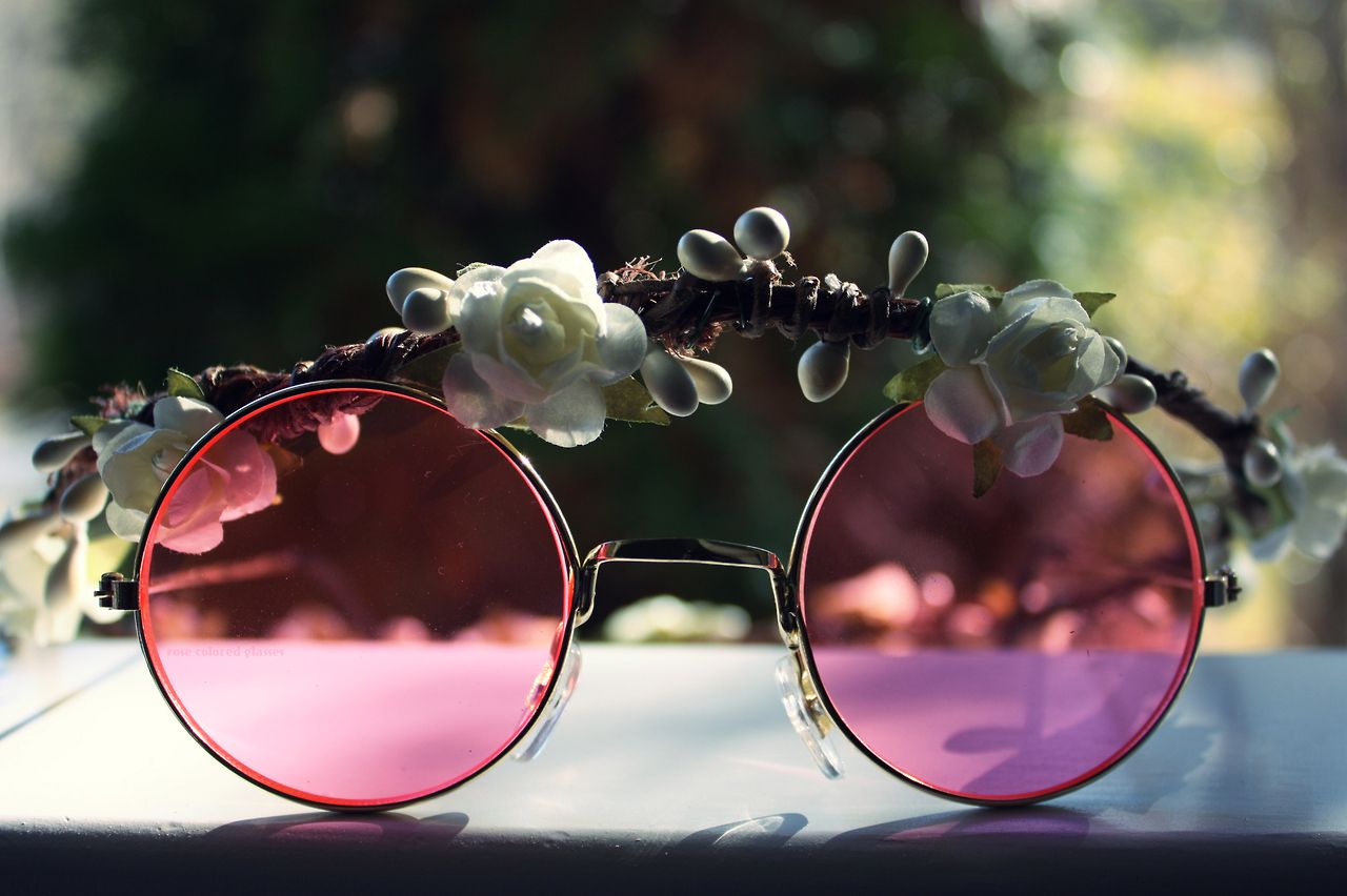 Rose Sunglasses | Blank Stare, Blink/Giving Father Time ... |Rose Colored Glasses Readers