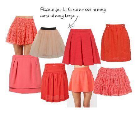 484cde8ba falda-corta-color-coral | Style | Falda modelo, Faldas y Modelos de ...