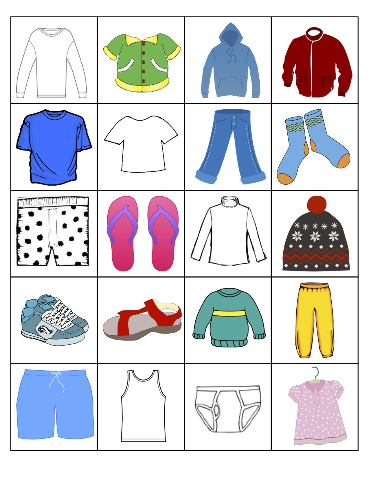 Long Sleeve Coat Hoojacket T Shirt Under Shirt Jeans Socks Boxers Flipflops