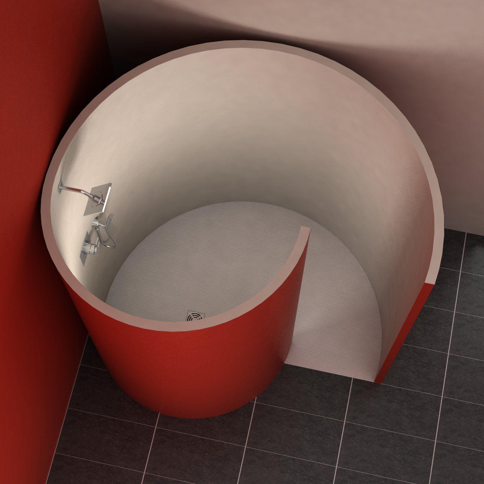 Schneckendusche 190x157 5 Cm Dusche Offenes Badezimmer Diy Dusche