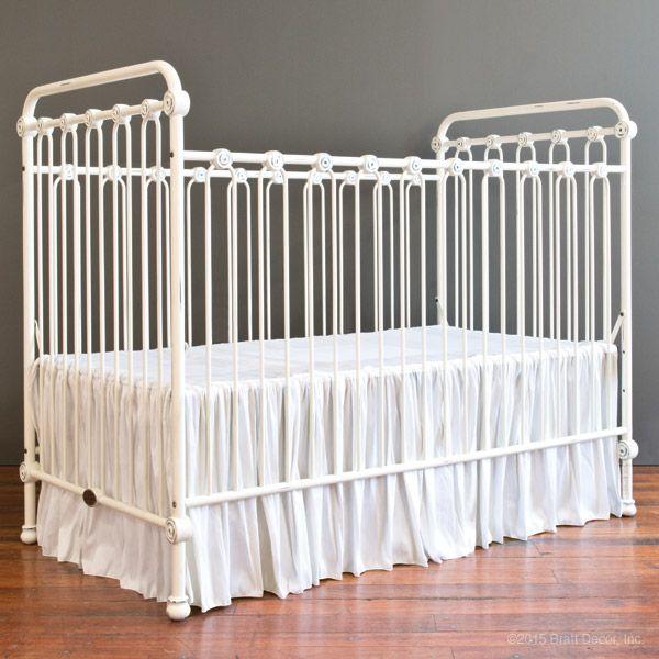 Riley Crib Skirt Baby Crib Skirts Fauxsilk White Cribs