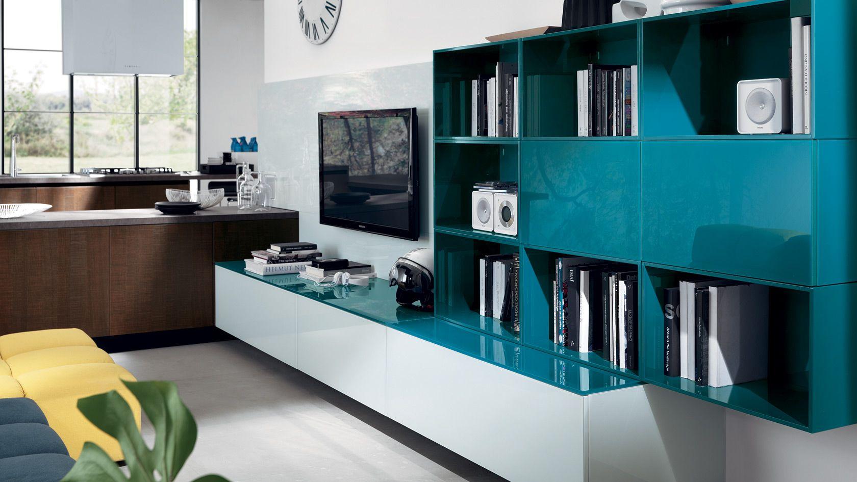 Living Living LiberaMente Scavolini | Tv Stend | Pinterest | Shelves ...