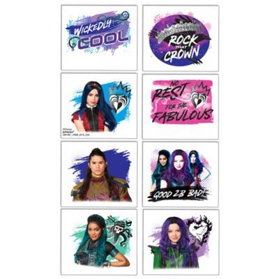 Descendants 3 Tattoos 1 Sheet Birthday Party Supplies