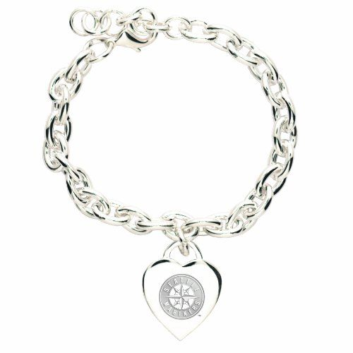 MLB Seattle Mariners Heart-Charm Bracelet - Price: 	$8.05 http://astore.amazon.com/mlbracelets-20/detail/B0041VCU8E
