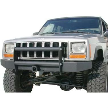Front Bumper W Push Bar And Hitch Receiver Jeep Bumpers Jeep Xj