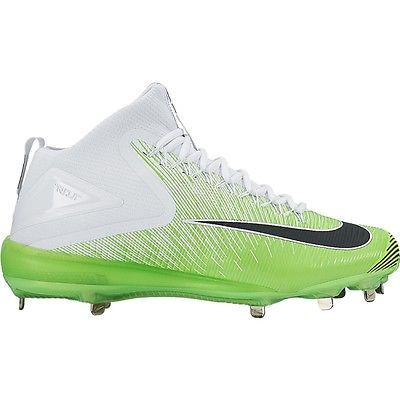 New Nike Zoom Trout 3 Asg Metal Baseball Cleats Grey Size 9 5 White Green Mike Baseball Cleats Cleats Metal Baseball Cleats