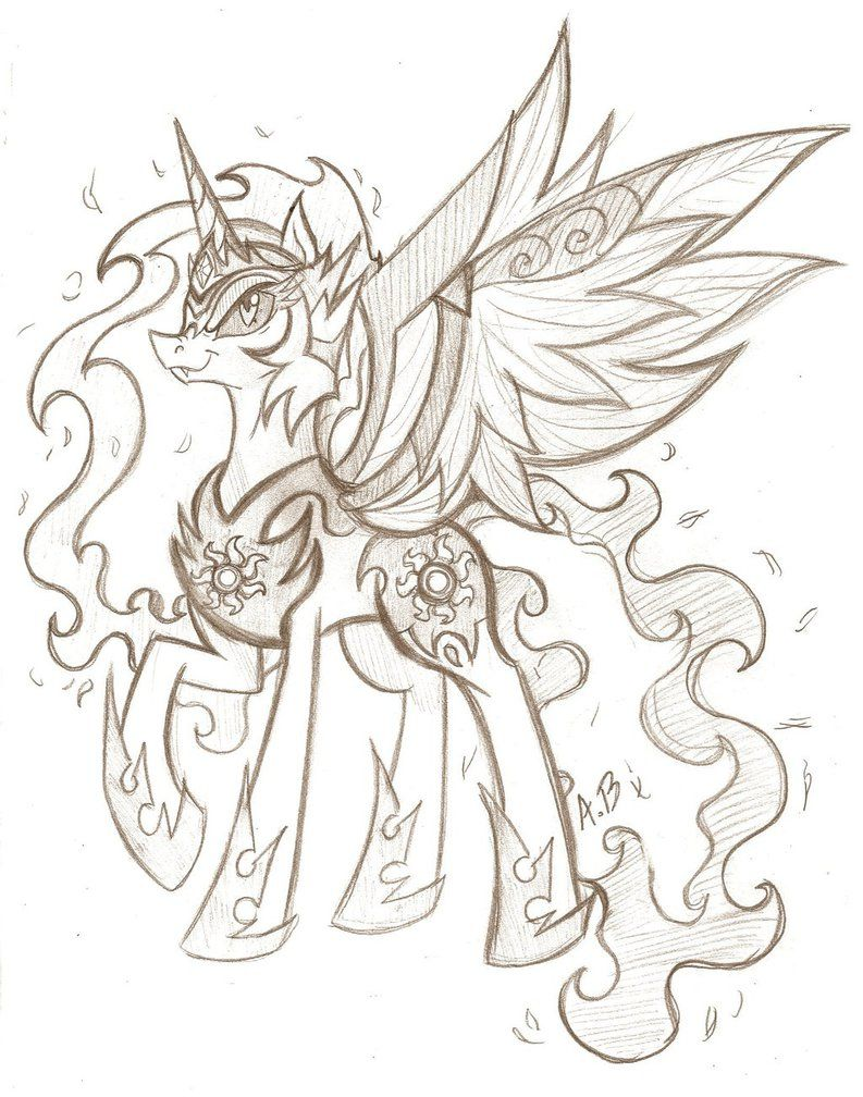 Mlp Daybreaker Drawing My Little Pony Drawing My Little Pony Comic Pony Drawing