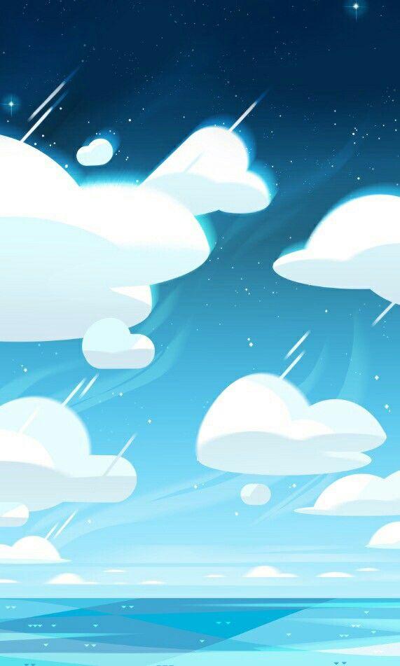 Steven Universe Cloud Wallpaper With Images Steven Universe