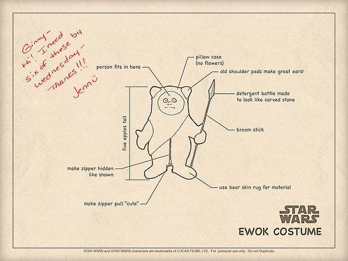 Cute Ewok Costume Instruction Manual Ewok Costume Ewok Bear Skin Rug