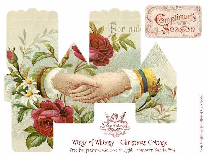 Wings of Whimsy: 100 Christmas Cottages #freebie #ephemera #printable #christmas #cottage