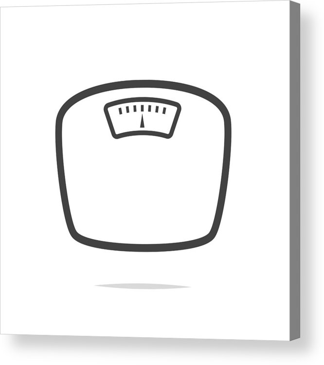 Weight Scale Icon Vector Acrylic Print By Farbai Weight Scale Acrylic Prints Scale Tattoo