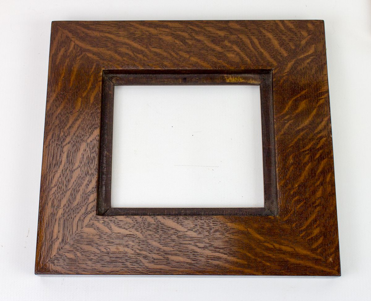 Arts And Crafts Shadow Box Tile Frame For A 4 X 4 Ceramic Tile