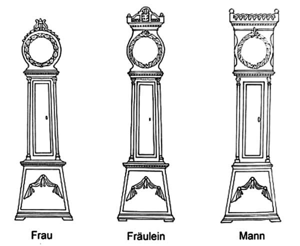 Grandfather Clock In Living Room Coloring Pages Color Luna For