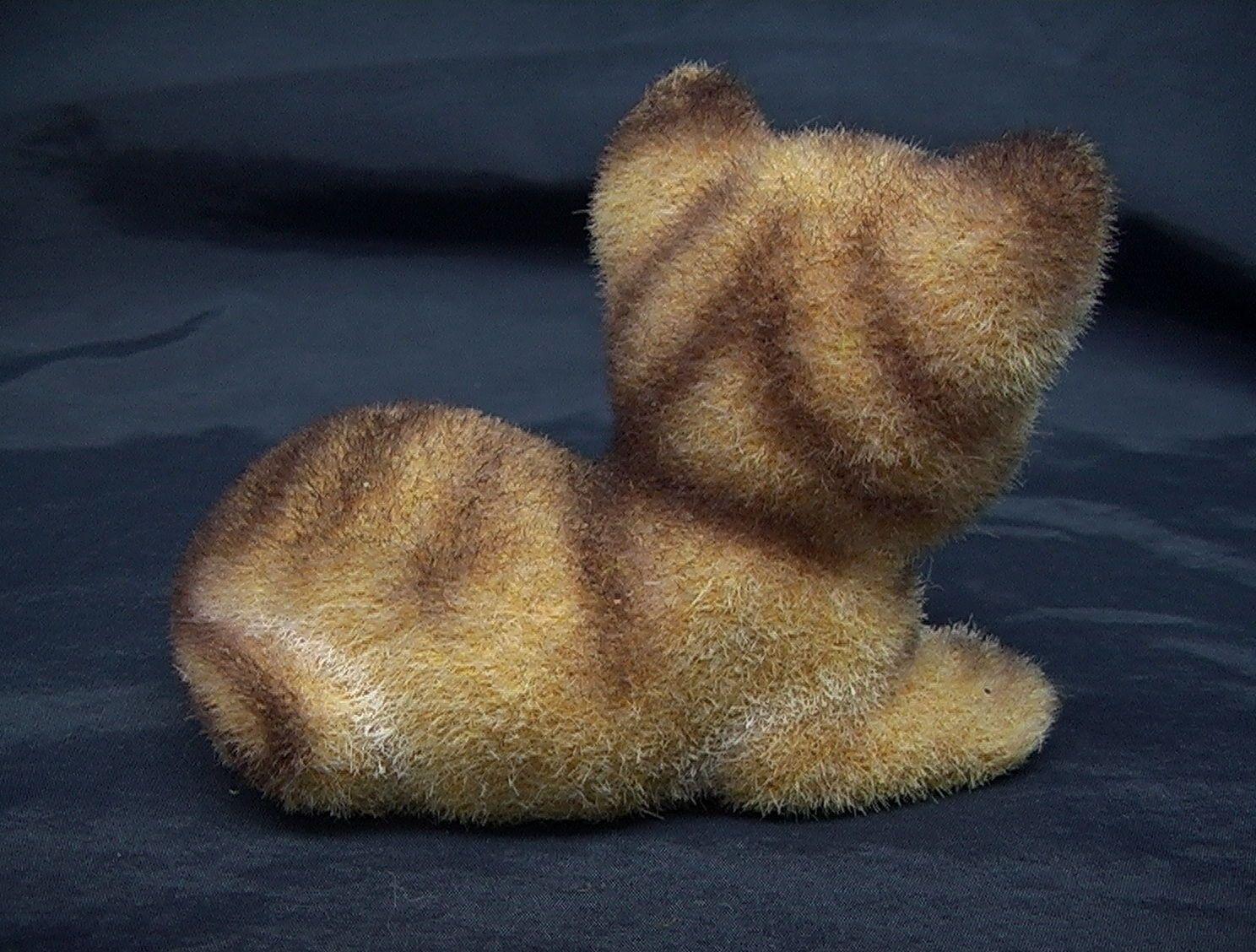 Vintage Josef Originals Flocked Cat Kitten Kitty Figurine Japan Free Shipping   eBay