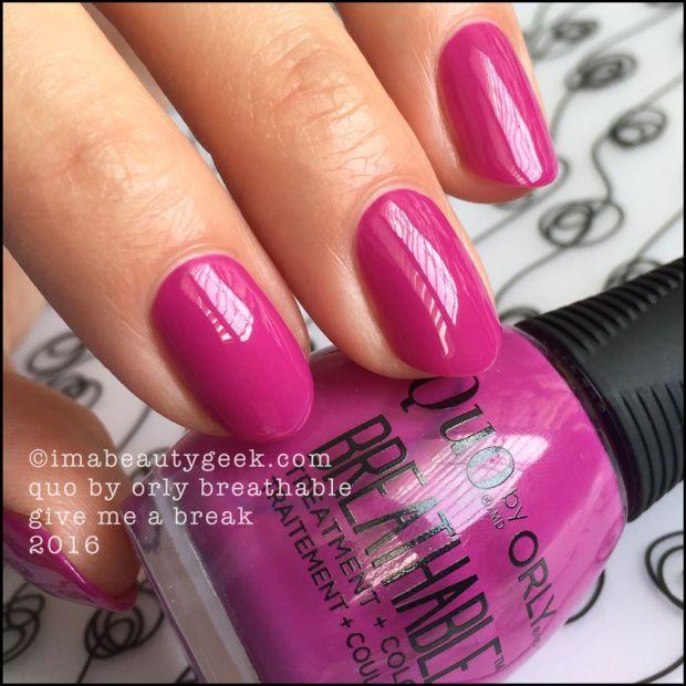 QUO BY ORLY BREATHABLE NAIL POLISH   Nail nail, Swatch and Orly nail ...
