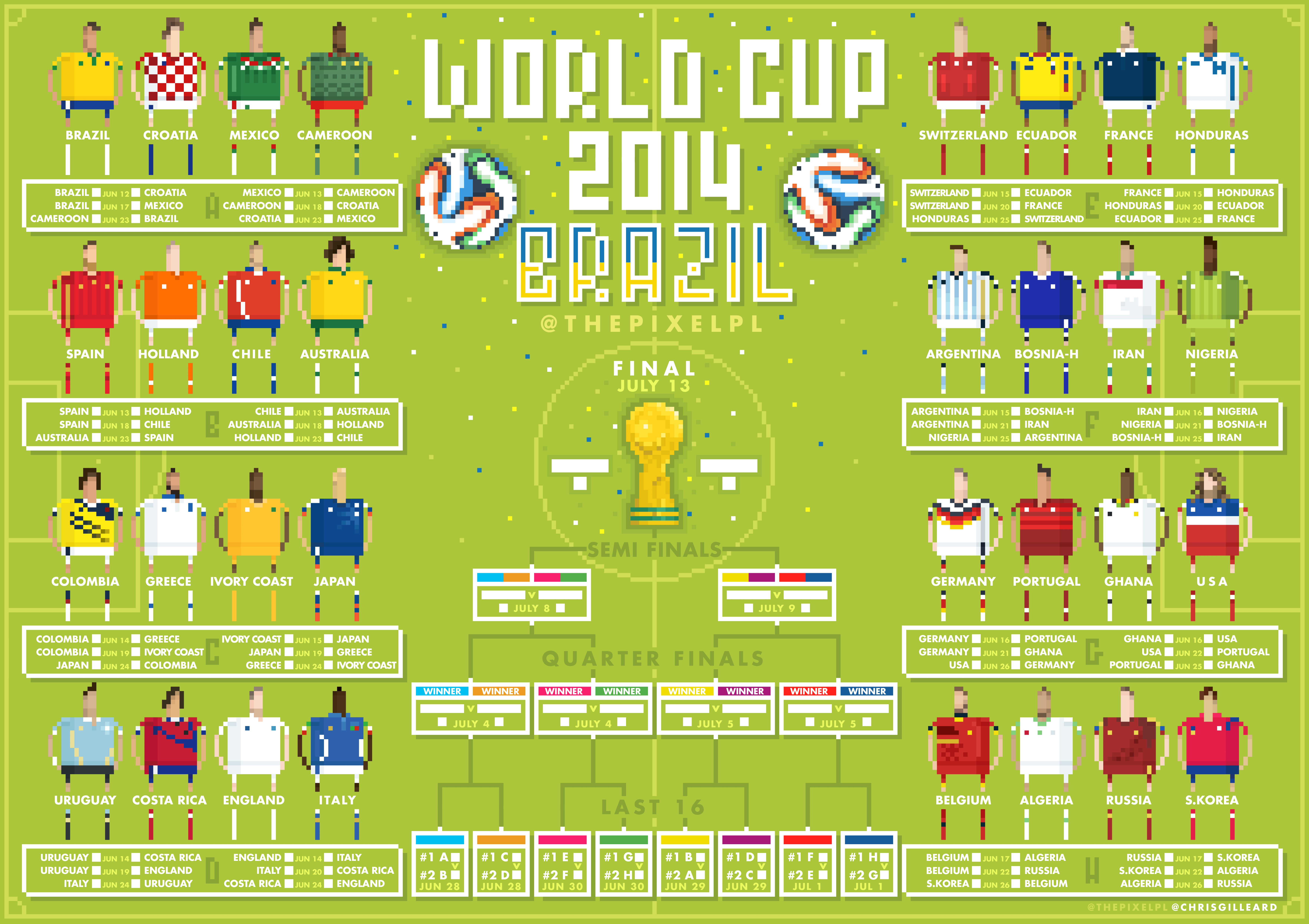 Pixel World Cup Wall Chart Imgur World Cup Fifa World Cup Wold Cup