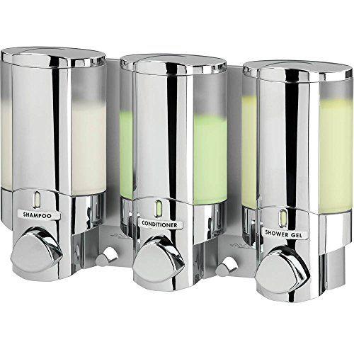 Better Living Products Aviva Three Chamber Dispenser Chrome Aviva
