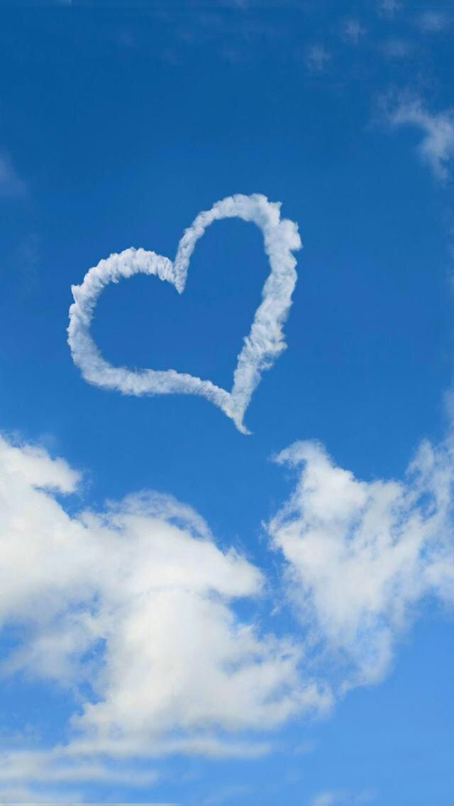 Beautiful Heart Clouds Birthday In Heaven Heart In Nature