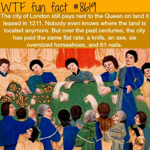 the city of london pays taxes to the queen for a