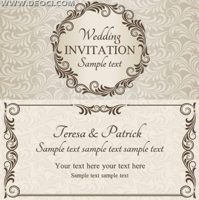 Wedding Invitation Templates Free Download Printable Card