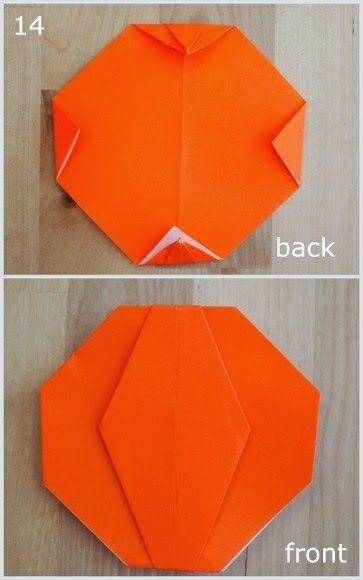 Origami Jack O Lantern Pumpkin Diy Pinterest Origami Origami