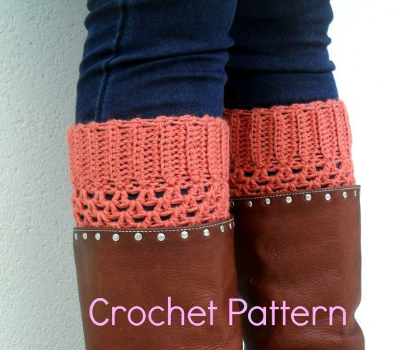 PDF Pattern  Crochet Boot Cuffs  by yoghi911 on Etsy, $5.00.  I'm trying to convince my mother-in-law to make these for me!